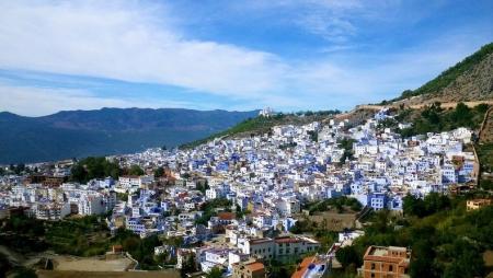 Vista Panoramica della Città Blu